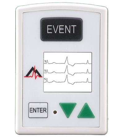 NorthEast Monitoring DR200/HE 14 day Holter and Event Recorder with green buttons